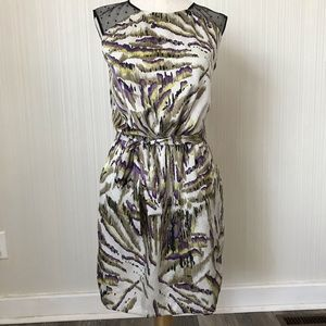 Guess Silky Dress with Lace Yoke and Belt